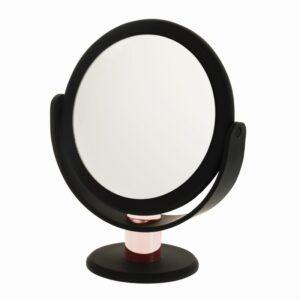 26126-D1068RG – Black and Rose Gold Stem Vanity Mirror